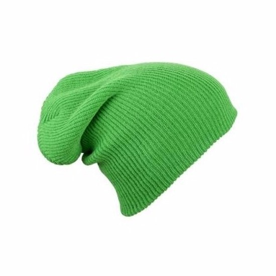 446729aaf5c Toppers Basic beanie muts lang limegroen voor dames - Toppers Pretty ...