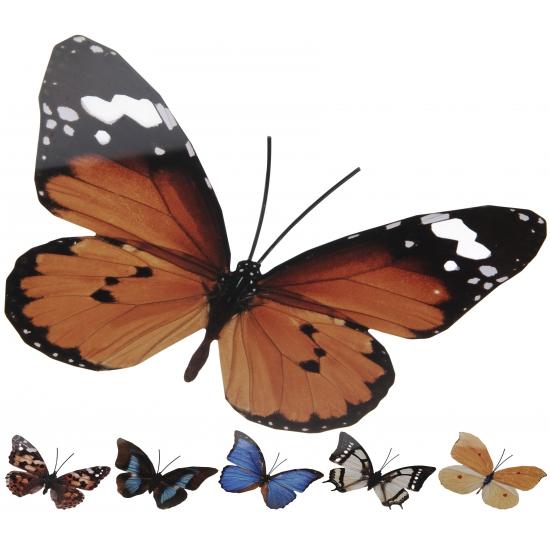 Toppers decoratie vlinder geel oranje metaal 30 x 25 cm toppers country feestwinkel - Decoratie geel ...