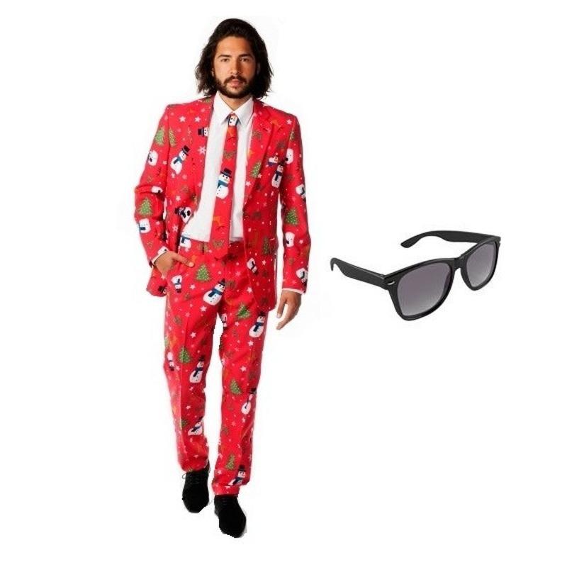 8ea300db154 Toppers Heren kostuum met kerst print maat 50 (L) met gratis ...