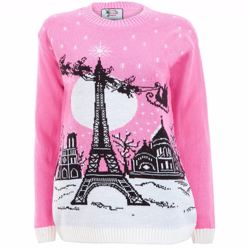 Kersttrui Hert.Toppers Roze Kersttrui Paris Voor Dames Toppers Pretty Pink