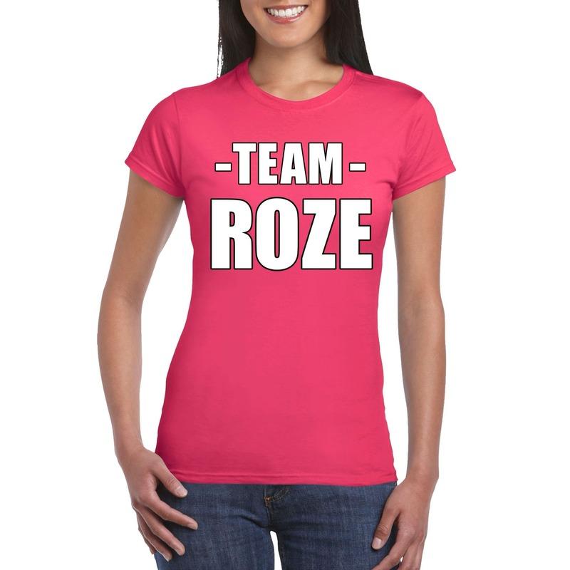 Sportdag team roze shirt dames