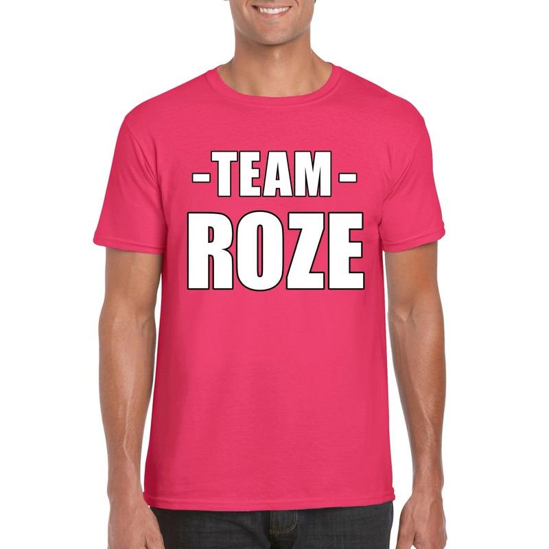 Sportdag team roze shirt heren