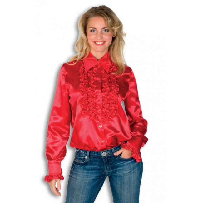 Rouches blouse rood dames
