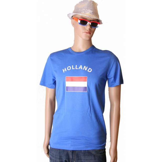 Toppers 2014 Blauw Toppers t-shirt vlag Holland