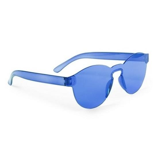 Blauwe verkleed zonnebril voor volwassenen