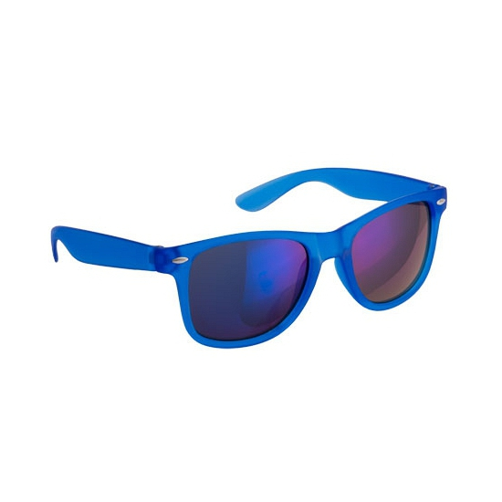 Hippe zonnebril blauw met spiegelglazen