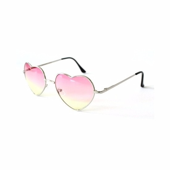 ccaf02df658936 Toppers Retro zonnebril hartvorm roze glazen - Toppers Happy ...