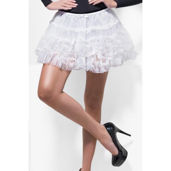 Witte kanten petticoat/tutu voor dames